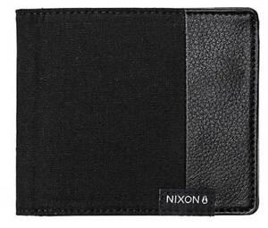 Nixon Showdown Canvas Bi-fold Wallet - Black - New