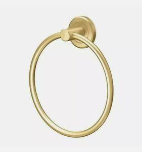 Gatco Latitude II Towel Ring Brushed Brass