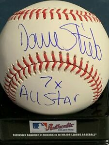 DAVE STIEB  TORONTO BLUE JAYS  7 X ALL STAR  SIGNED OML BASEBALL