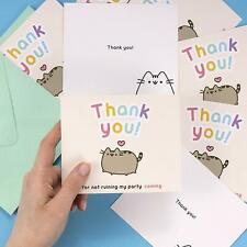 PACK OF 8 PUSHEEN THANK YOU NOTES / PARTY CARDS & ENVELOPES *FAST UK DISPATCH*