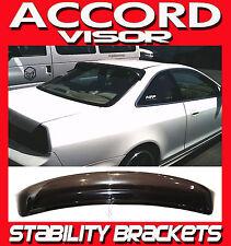 98 99 00 01 02 Accord Coupe Rear Window Soiler Sun Visor with Stability Brackets