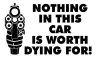 Nothing In This TRUCK CAR HOUSE Is Worth Your Life! vinyl decal NRA gun warning