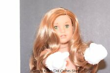 White Mittens / Ski Gloves 18 in Doll Clothes Fits American Girl