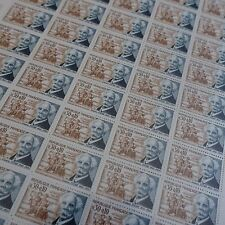 FEUILLE SHEET TIMBRE CÉLÉBRITÉS GABRIEL FAURE N°1473 x50 1966 NEUF ** LUXE MNH