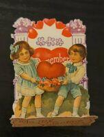Vintage Valentine, girl with boy pop up Z7