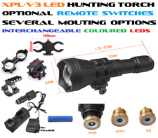 Hunting Torch/Flashlight, Rifle, Several Mount/Switch Options, CREE XP-L LED