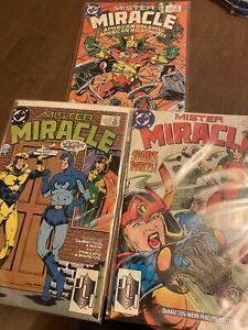 MISTER MIRACLE #1,7,8 (1989) VF+ 1989 JM DEMATTEIS IAN GIBSON NEW GODS DC COMICS