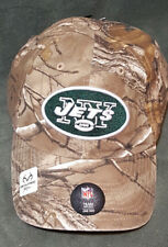 47 Brand New York Jets Camo Realtree Hunting Football Hat Cap Adjustable