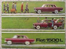 FIAT 1500 L LUNGO INTERASSE delle vendite di automobili opuscolo c1964 # 2028