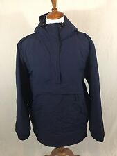 LL Bean Anorak Insulated Rain Jacket Women's Plus Size 1X Navy Blue EUC! Nice!