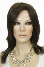 Julia 6 Brunette Long Monofilament Jon Renau Straight Wigs