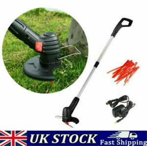 Electric Cordless Grass Trimmer Garden Weed Strimmer Cutter Rechargeable Tool