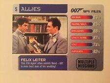 Felix Leiter #5 Allies - 007 James Bond Spy Files Card