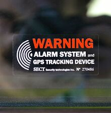 4 Car Alarm Security STICKER Warning Decal GPS Tracking Device - external