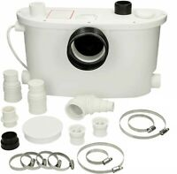 Flo-Force Max Domestic Sanitary Macerator Waste Pump White 4 Inlets Quiet IP54