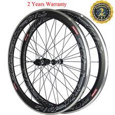 Superteam 50mm Clincher Road Bike Racing Wheelset 700C Alu Braking Carbon Wheels