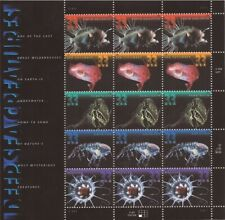 US Stamp - 2000 Deep Sea Creatures - 15 Stamp Sheet #3439-43