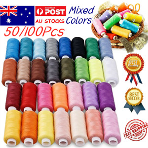 50/100Pcs Mixed Colors Sewing Threads Set Useful for Daily Life Sewing Machine