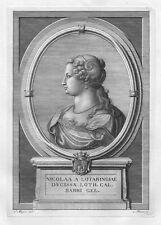 NICOLETTA LORENA DUCHESSA Nicole Lorraine Bar - Acquaforte Originale 1700