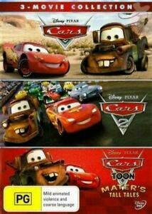 Cars 3 Movie Collection Disney Pixar BRAND NEW Region 4 DVD 1 2 3