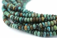 Authentic Turquoise Stone Disk Beads
