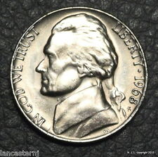 1968-S BU Jefferson Nickel Free Shipping!