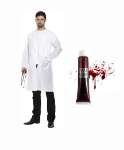 Mad Scientist Lb Coat Set Costume Doctor Jacket Surgeon Crazy Halloween Blood