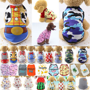Cute Pet Dog Cat Clothes Summer Puppy T Shirt Clothing Small Dogs Chihuahua Vest