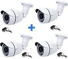 KIT 4 TELECAMERE AHD ESTERNO VIDEOSORVEGLIANZA 36 LED INFRAROSSI 2,0 MP 3,6mm