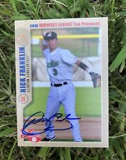 Nick Franklin Brewers 2010 Grandstand Auto Signed Baseball Card