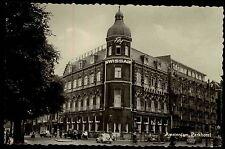 Amsterdam alte AK Holland gelauf. 1958 Straßenpartie am Parkhotel Personen Autos