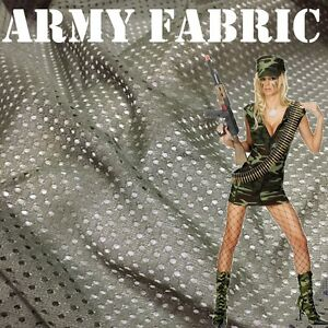Military Mesh Army Fabric SWAT Breathable Cloth Olive Green Hunt Fancy Dress 54""