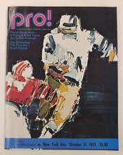 San Diego Chargers vs New York Jets Football 1971 Program J64785