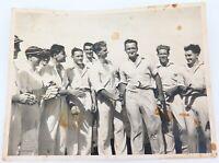 .MELBOURNE 1ST GRADE CRICKET 1951-1952. MELBOURNE v NORTHCOTE SEMI FINAL PHOTO