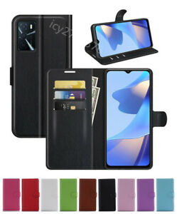 New Leather wallet stand flip Cover Skin Phone Case For OPPO A16/A16S
