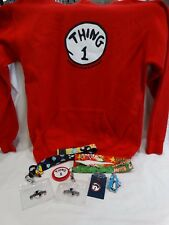 Universal Studios Thing 1 Set- Sweatshirt, Pin, 2 Lanyards, Magnets And More