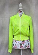 ESCADA SPORT Women Jacket Top Shorts Neon YELLOW Set of 5 - SZ 32 / S / XS