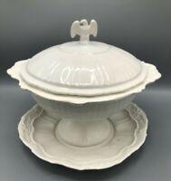 Soup Tureen Lane & Co. Company white stoneware American Eagle stars