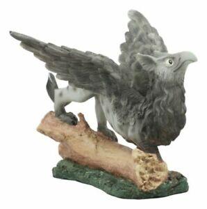 "Ebros Baby Griffin Statue Wild Griffon by Forest Log Sculpture 5.5"" L"