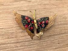 Modeschmuck Brosche Schmetterling bunt