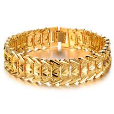 Mens Women's Unisex 18K Gold Filled Bracelet G16