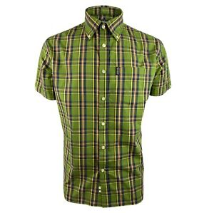 Trojan Classic Check Short Sleeved Shirt With Pocket Square TR/8629 - Green