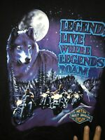 VTG 1991 Harley Davidson Legends Live Where Legends Roam Green River Wyoming L