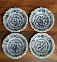 Kensington Set of 4 Coventry Blue Bowls Staffordshire Ironstone England Onion