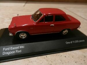 CORGI VANGUARDS FORD ESCORT MARK I DRAGOON RED - 1:43 - VGC IN BOX