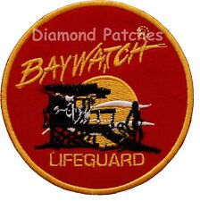 Baywatch Lifeguard Logo Crest Iron On or Sew On Fancy Dress Patch Badge
