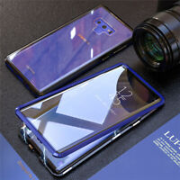 Magnetic Adsorption Case For Samsung Note 10 + S9 S10 Plus Double Tempered Glass