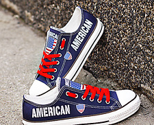 American Shoes Unisex Gumshoes American Flag Sneakers Gift Tennis shoes America
