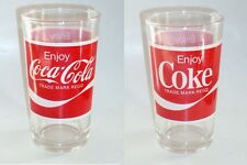 OLD EDITION -  1 x  Singapore drinking glass -   Coca Cola  (CA-#1)