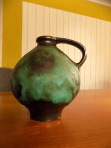 Vase Ruscha 352 seltene grüne Fat Lava Kurt Tschörner ? Höhe 16cm